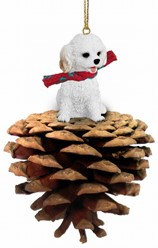 Pine Cone Cockapoo Dog Christmas Ornament