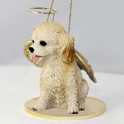 Cockapoo Angel Ornament
