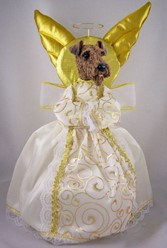 Airedale Terrier Angel Tree Topper