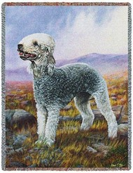 Bedlington Terrier Throw Blanket, Made in the USA