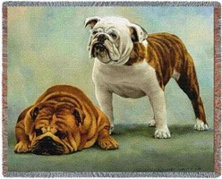 Bulldog Throw Blanket, Made in the USA