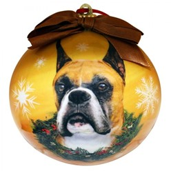 Boxer Christmas Ball Ornament