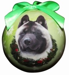 Akita Ball Christmas Ornament