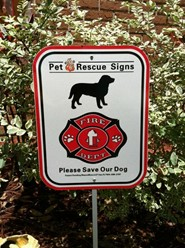 Pet Fire Rescue Sign