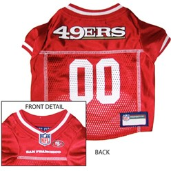 San Francisco 49ers Pet Football Jersey