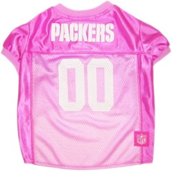 Green Bay Packers Pink Pet Football Jersey