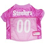 Pittsburgh Steelers Pink Pet Football Jersey