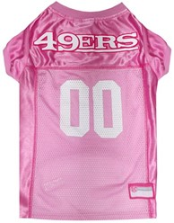San Francisco 49ers Pink Pet Football Jersey
