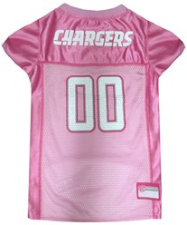 San Diego Chargers Pink Pet Football Jersey