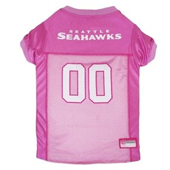 Seattle Seahawks Pink Pet Football Jersey