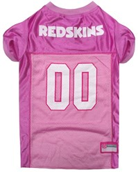 Washington Redskins Pink Pet Football Jersey
