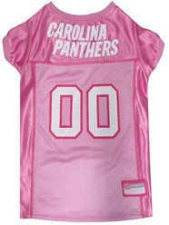 Carolina Panthers Pink Pet Football Jersey