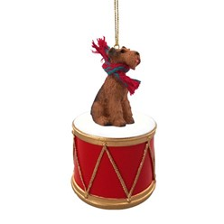 Airedale Drum Christmas Ornament