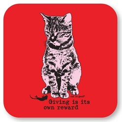 Giving Is Its Own Reward Cat Coasters, Set of 12