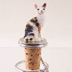Cornish Rex Cat Bottle Stopper