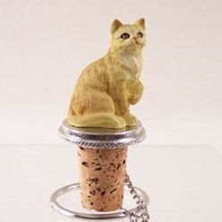 Red Tabby Cat Bottle Stopper
