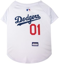 Los Angeles Dodgers Pet Baseball Jersey