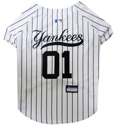 New York Yankees Pet Baseball Jersey