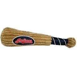 Cleveland Indians MLB Plush Baseball Bat Pet Toy