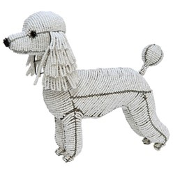 Poodle Beaded Sculpture, Fifi the Poodle