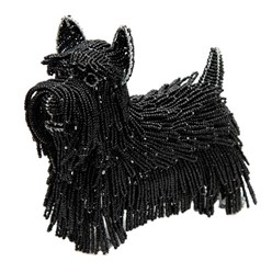 Scottish Terrier Beaded Sculpture, Scott the Scottie