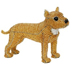 Staffordshire Terrier Beaded Sculpture, Brutus the Staffie