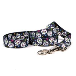 Sugar Skulls Black Leash