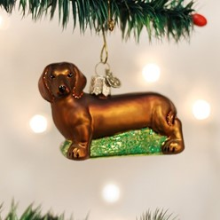 Dachshund Vintage Dog Christmas Ornament