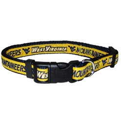 West Virginia University Mountaineers NCAA Dog Collar