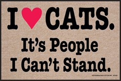 I Heart Cats It's People I Can't Stand Mat