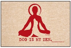Dog is My Zen Door Mat