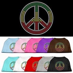 Rasta Peace Sign Pet Tee