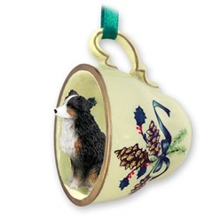 Australian Shepherd Tea Cup Holiday Ornament