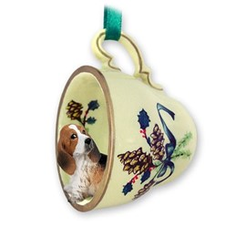 Basset Hound Tea Cup Holiday Ornament