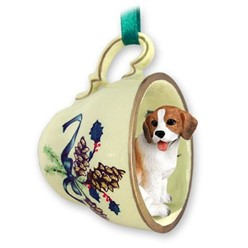 Beagle Tea Cup Holiday Ornament