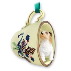 Petit Basset Griffon Vendeen Tea Cup Holiday Ornament