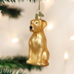 Yellow Lab Vintage Christmas Ornament