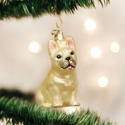 French Bulldog Vintage Dog Christmas Ornament