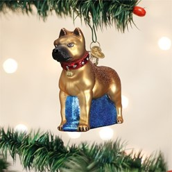 Staffordshire Bull Terrier Vintage Dog Christmas Ornament
