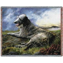 Scottish Deerhound Throw Blanket, Made in the USA