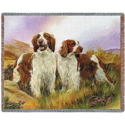 Welsh Springer Spaniel Throw Blanket, Made in the USA