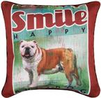 Vintage Bulldog Throw Pillow