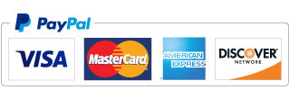 Accepting Visa, Mastercard, Discover, American Express and PayPal