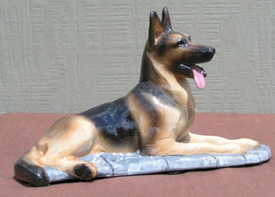 Limited Edition German Shepherd Dog Figurine