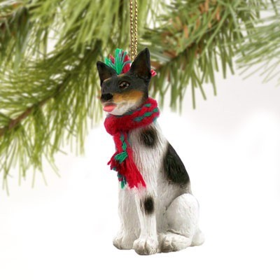 Raining Cats And Dogs Rat Terrier Christmas Ornament
