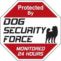 Dog Security Force Signs