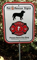 Pet Fire Rescue Signs