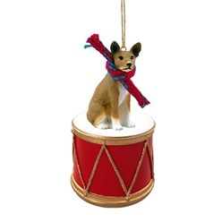 Dog Christmas Drum Ornaments
