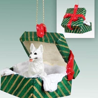 German Shepherd Christmas Teacup Ornament Tan//Blk