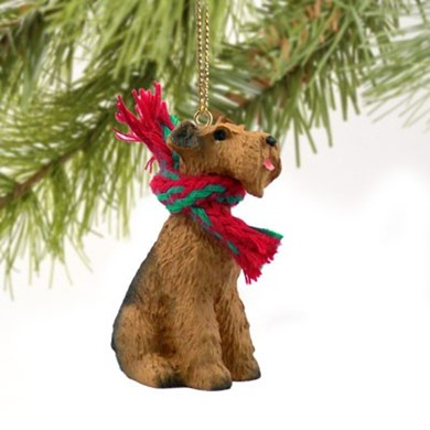 Raining Cats and Dogs | Airedale Terrier Dog Christmas Ornament